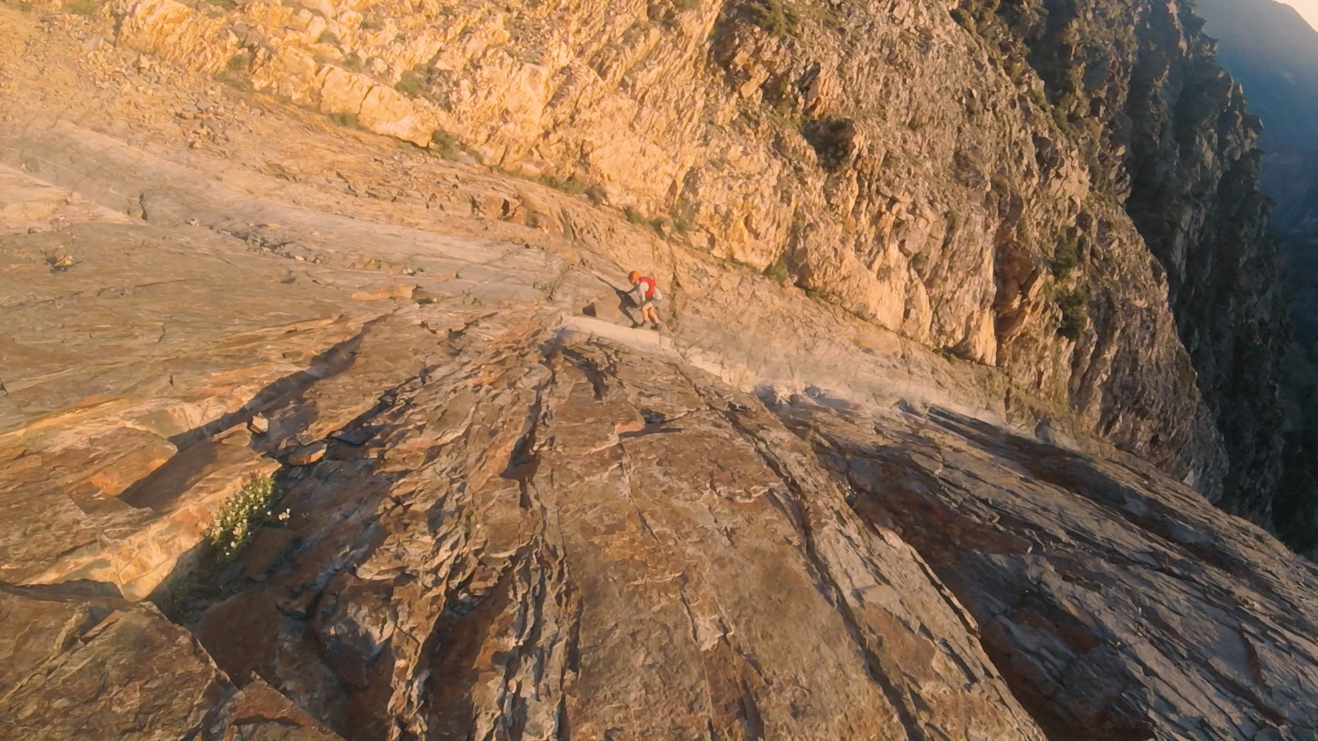 Running up the gully 2